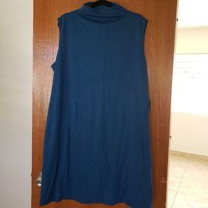 Blue plus size dress